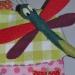Petite libellule en feutrine